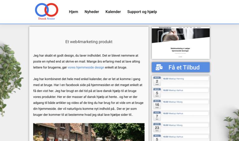 Dansk Senior forenings hjemmeside